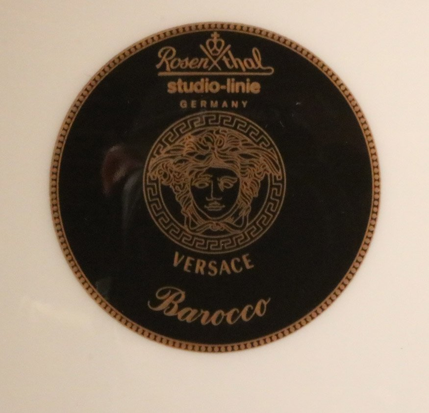 Three Rosenthal Versace Square Plates - 3
