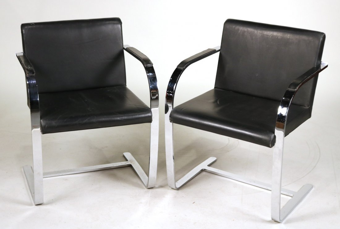 Pair of Mies Van Der Rohe BRNO Flat Bar Chairs
