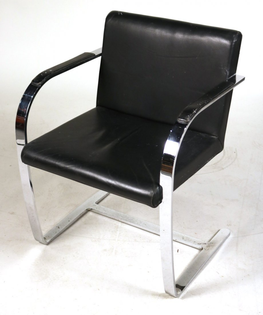 Pair of Mies Van Der Rohe BRNO Flat Bar Chairs - 2