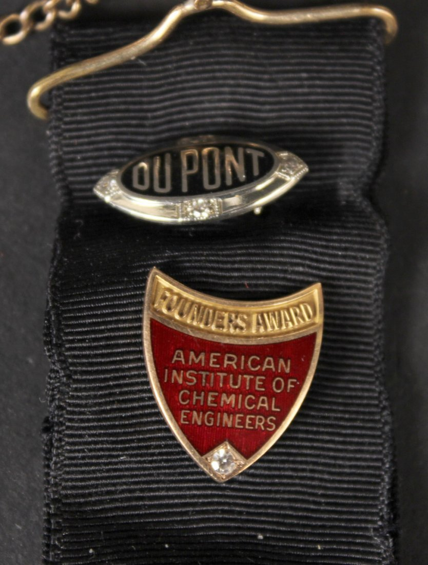 18K White Gold and Diamond Dupont Pin - 4