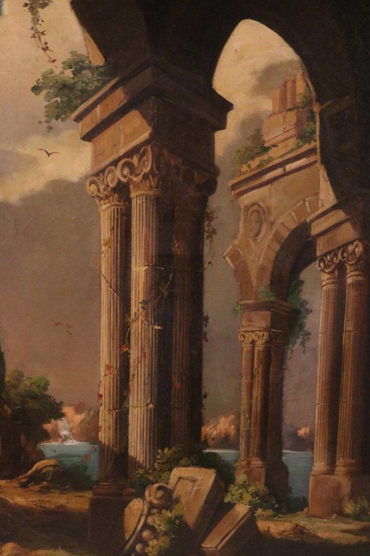 Oil on Canvas, Neoclassical Scene - 2