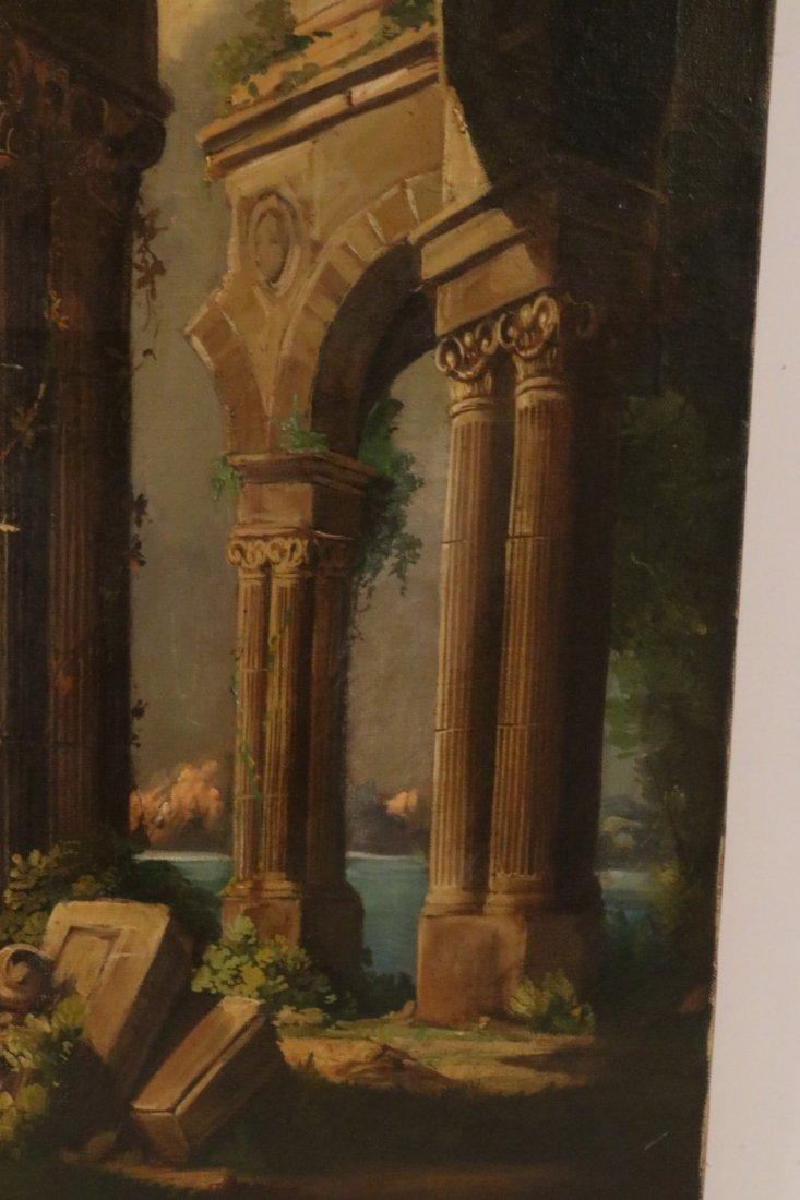 Oil on Canvas, Neoclassical Scene - 3