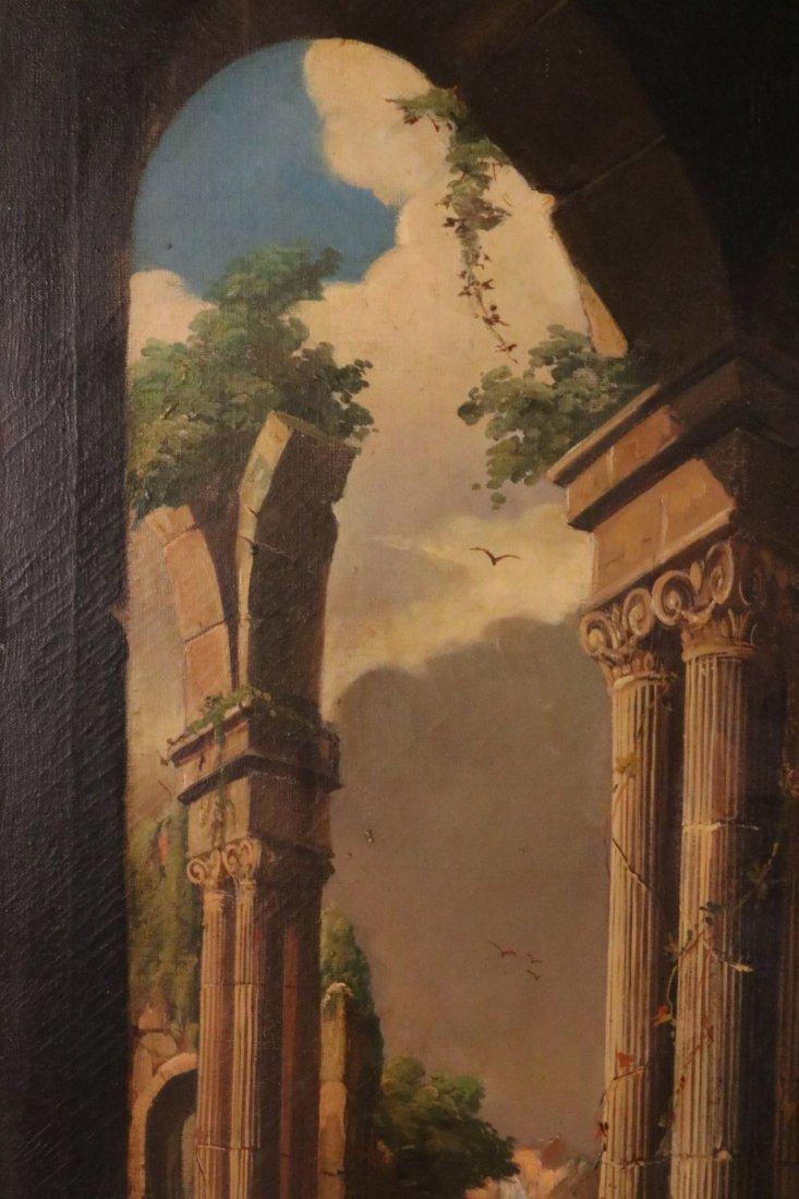 Oil on Canvas, Neoclassical Scene - 4