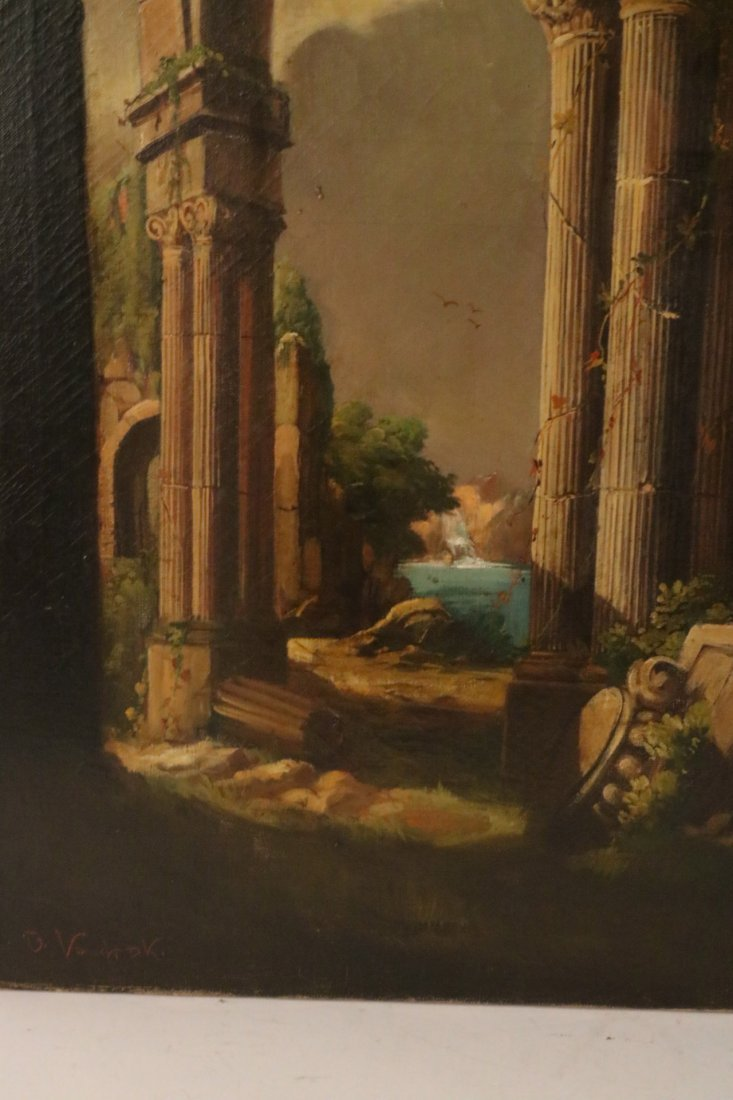 Oil on Canvas, Neoclassical Scene - 5