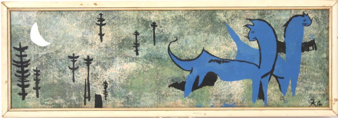 Lithograph, Blue Dinosaur, Paul Klee