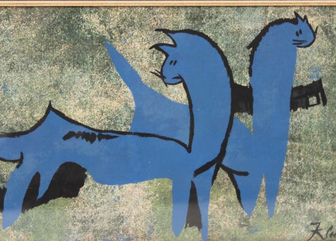 Lithograph, Blue Dinosaur, Paul Klee - 4