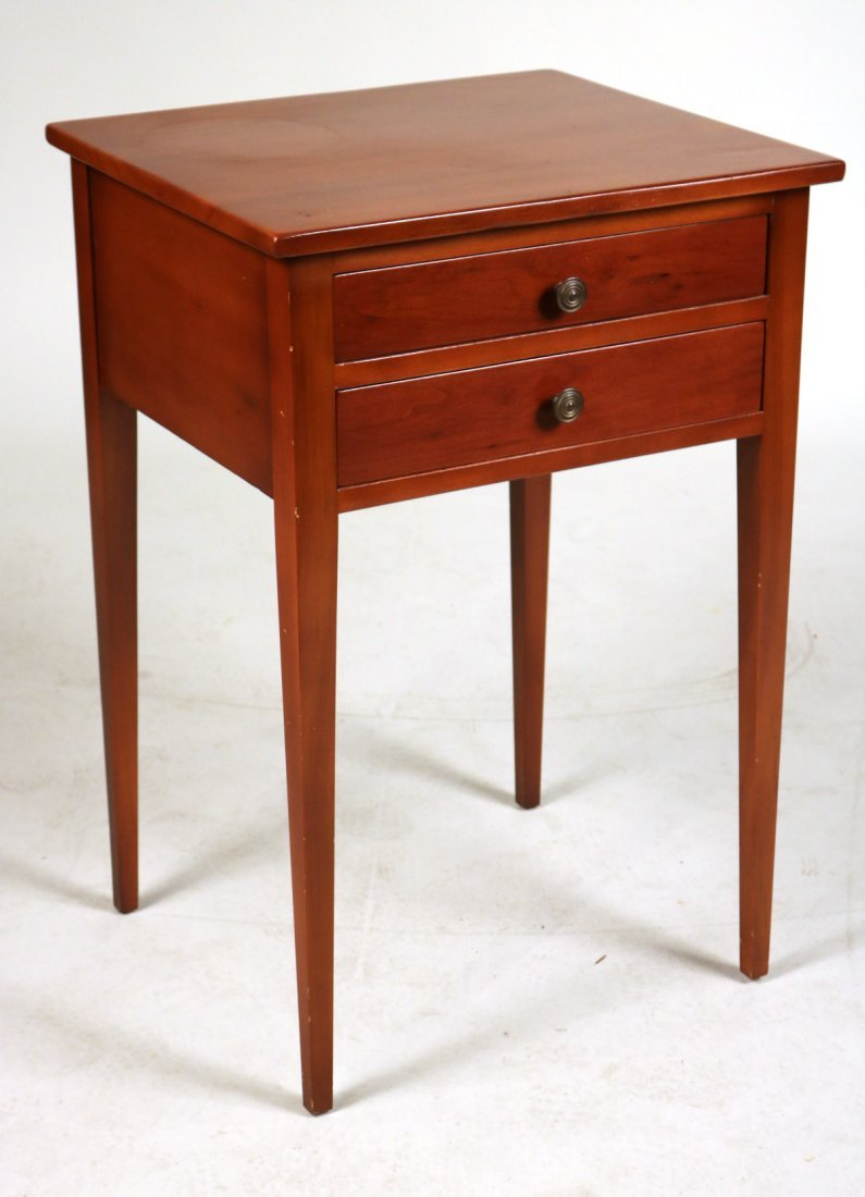 Federal Cherrywood Two-Drawer Side Table