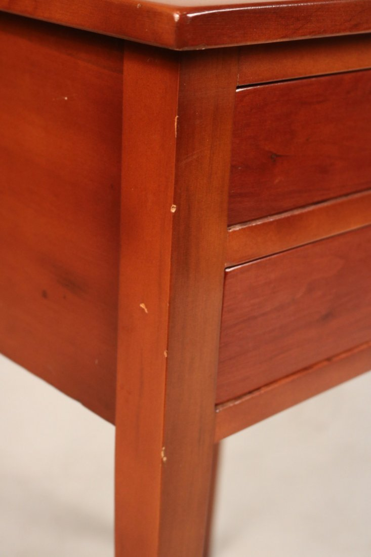 Federal Cherrywood Two-Drawer Side Table - 2