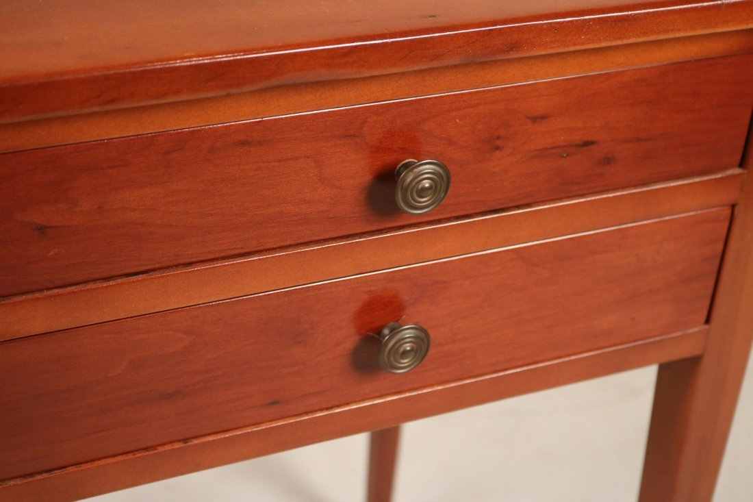 Federal Cherrywood Two-Drawer Side Table - 4
