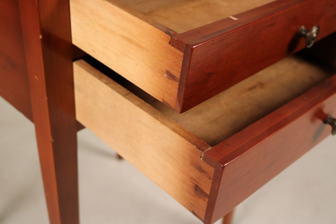 Federal Cherrywood Two-Drawer Side Table - 5