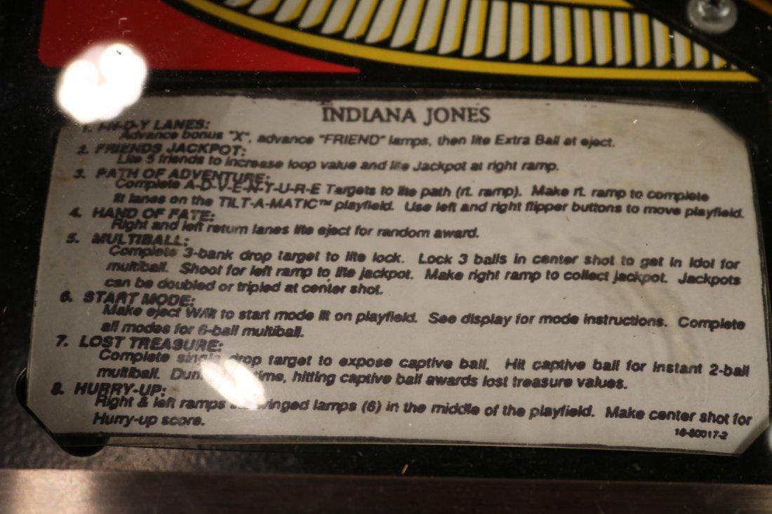 Indiana Jones Pinball Machine - 5