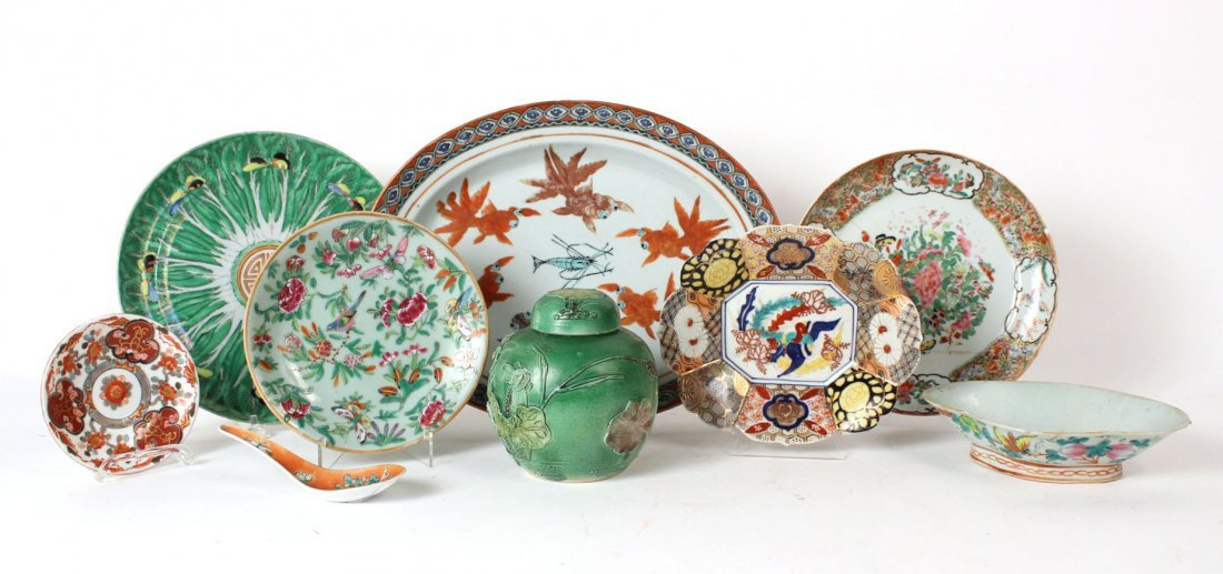 Chinese Porcelain Plates, Bowls and Platter