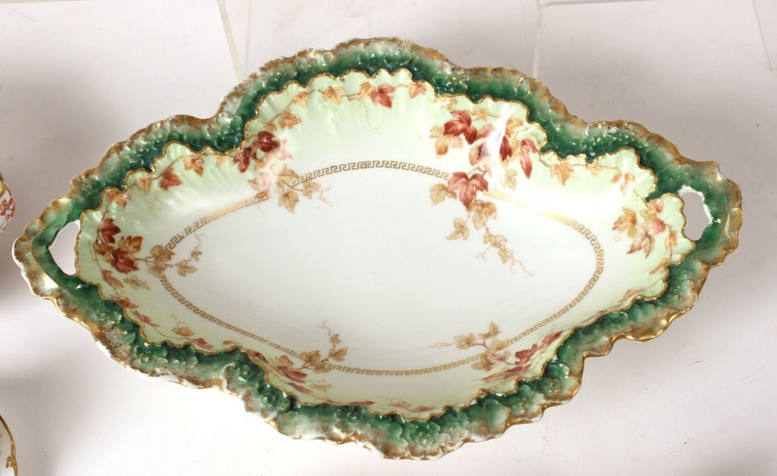 Coalport Gilt and Turquoise Beaded Cup & Saucer - 5
