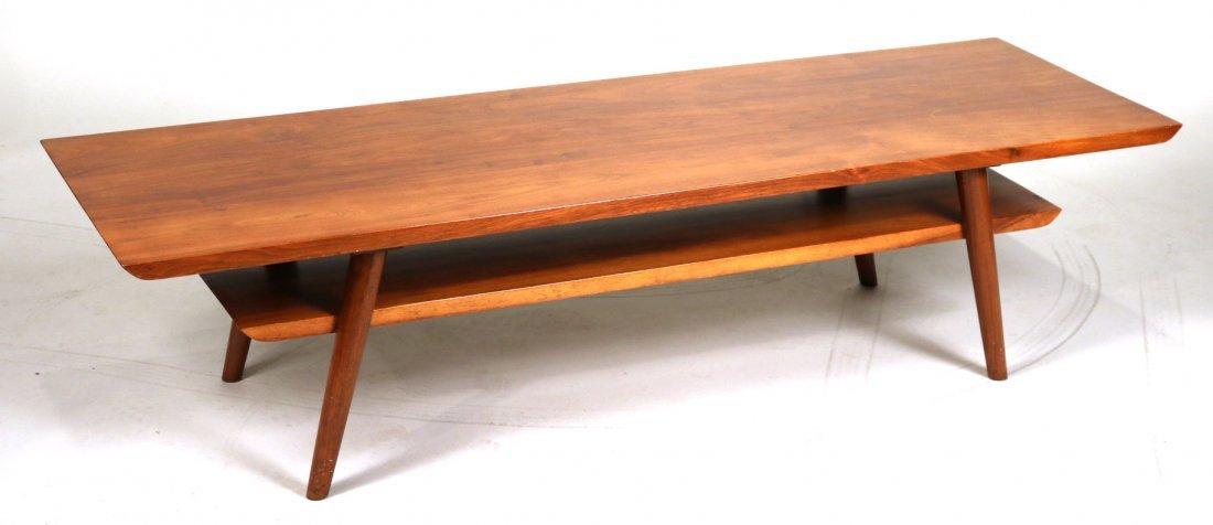 Mid-Century Modern Walnut Low Table