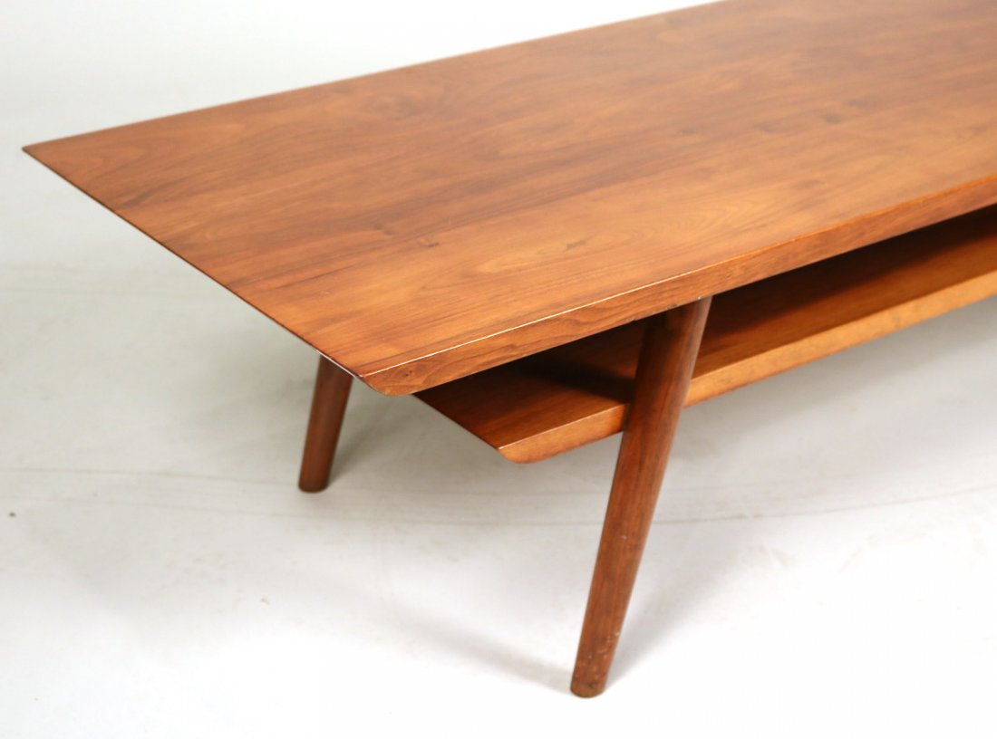 Mid-Century Modern Walnut Low Table - 2