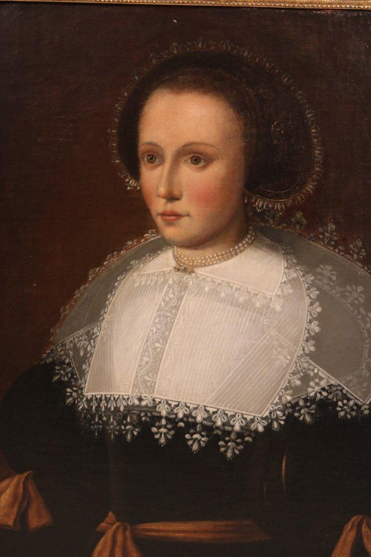 Oil on Canvas, Portrait of Elizabethan Woman - 2