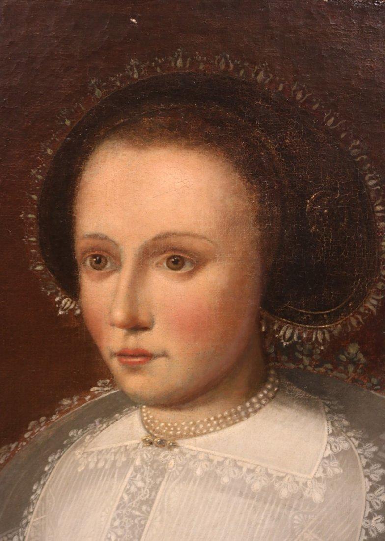 Oil on Canvas, Portrait of Elizabethan Woman - 3