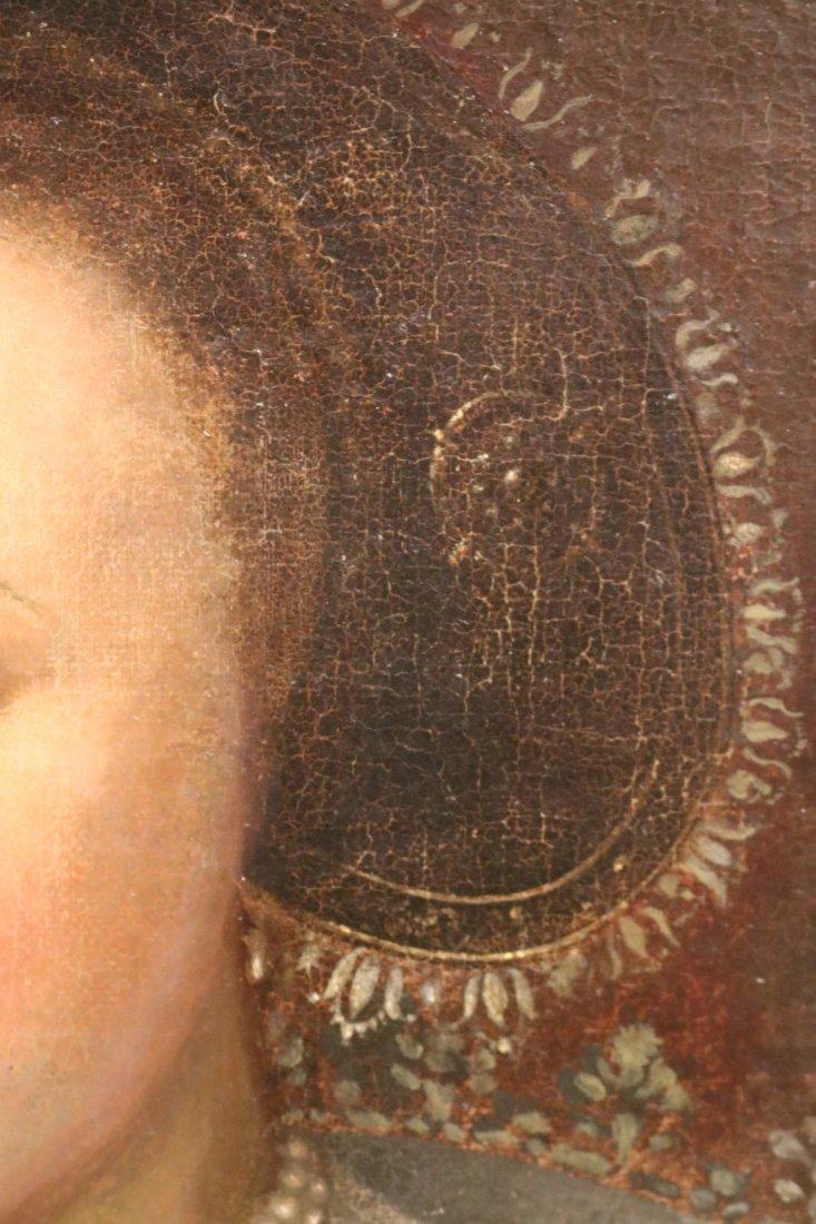 Oil on Canvas, Portrait of Elizabethan Woman - 4