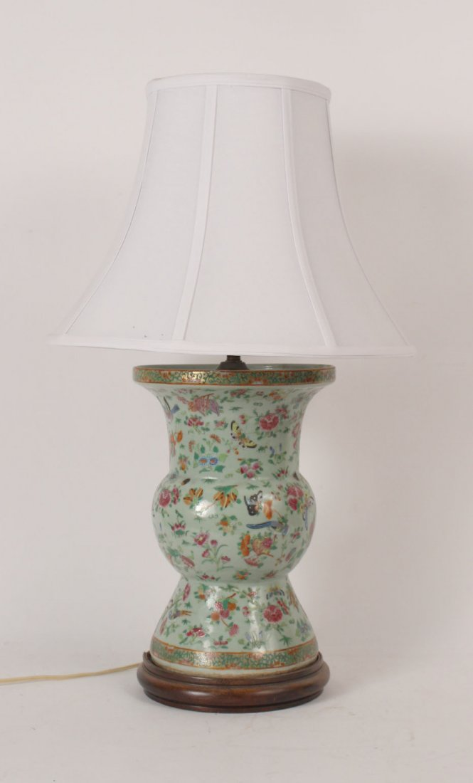 Chinese Porcelain Vase, Fitted as a Lamp