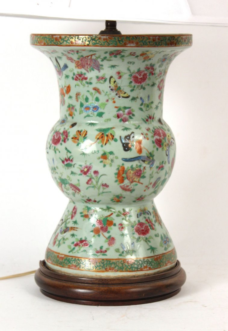 Chinese Porcelain Vase, Fitted as a Lamp - 2