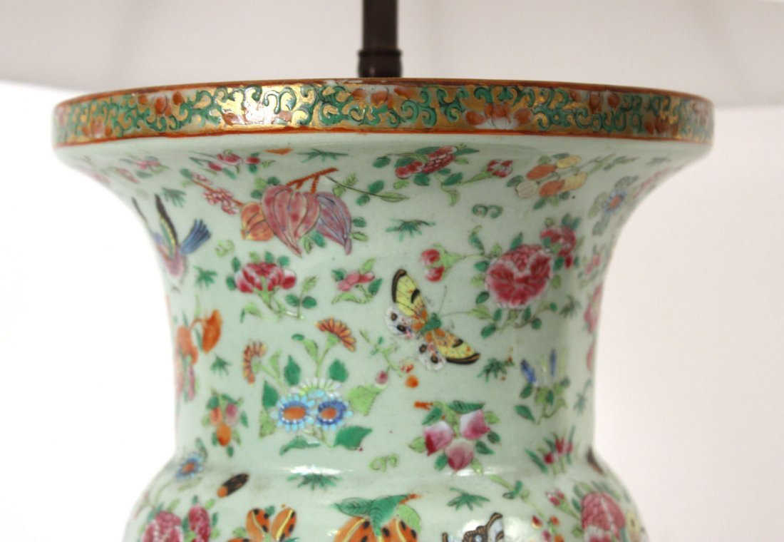 Chinese Porcelain Vase, Fitted as a Lamp - 3