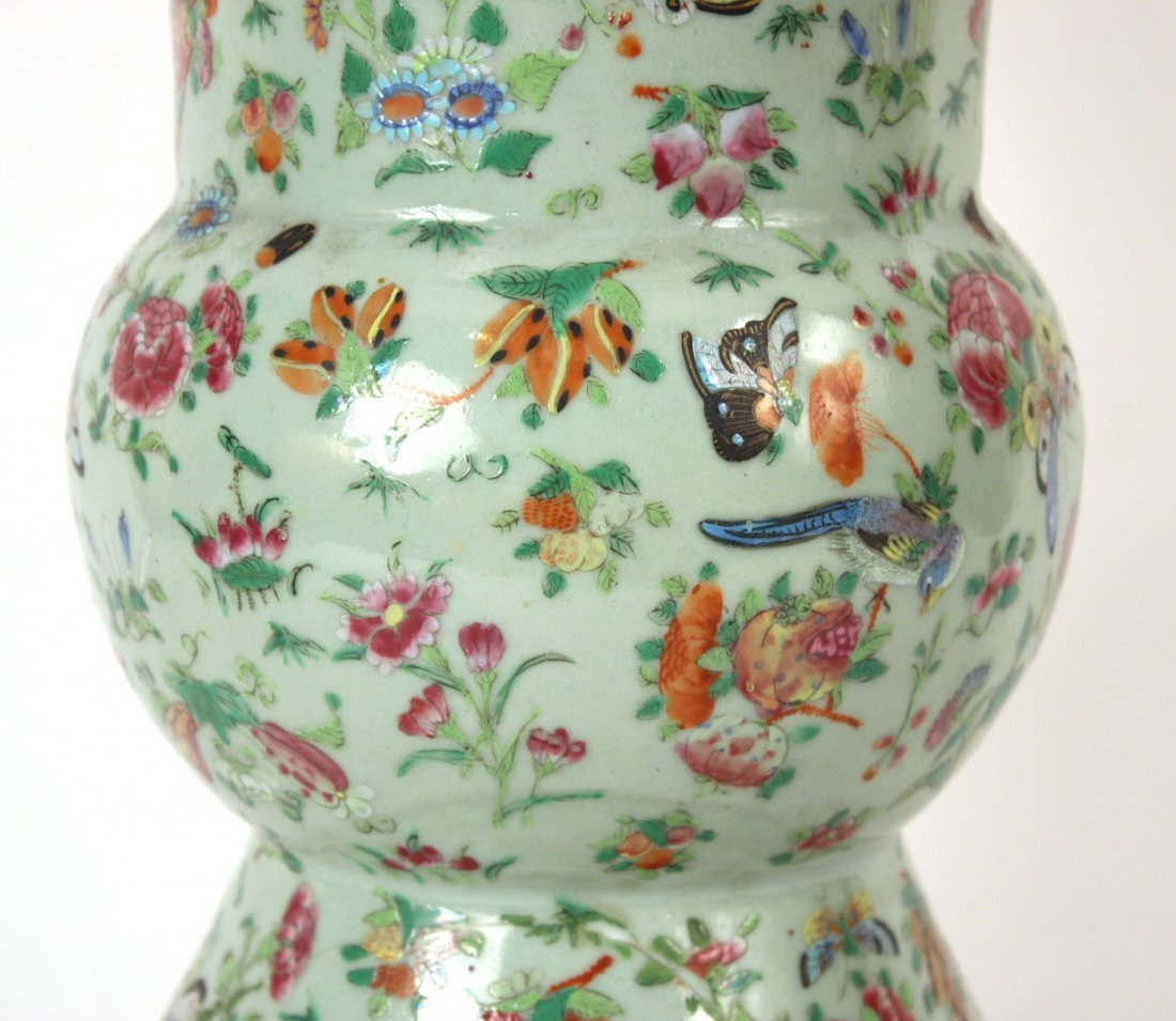 Chinese Porcelain Vase, Fitted as a Lamp - 4