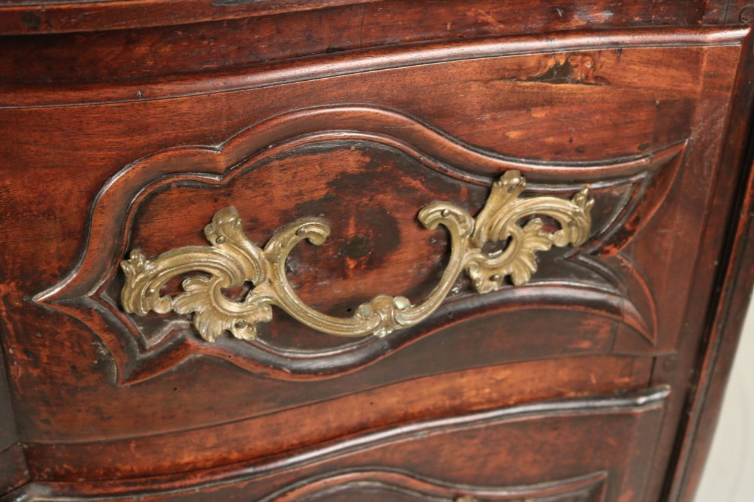 Provincial Louis XV Walnut Chest of Drawers - 4