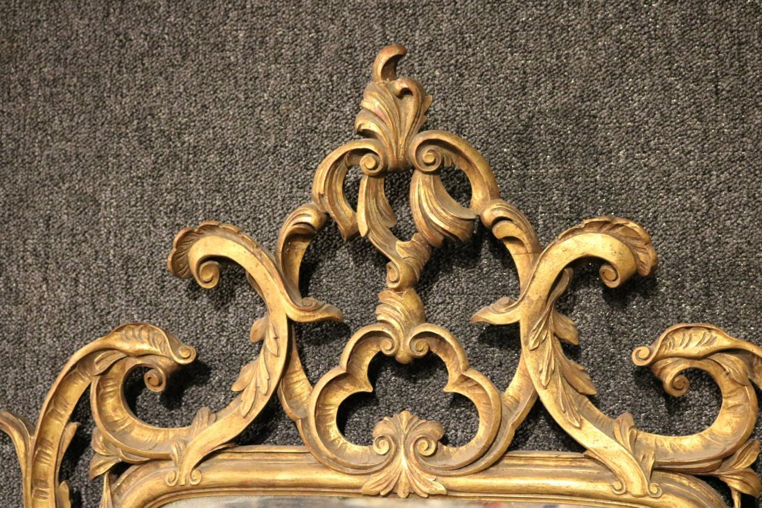 Rococo Style Giltwood Mirror - 2
