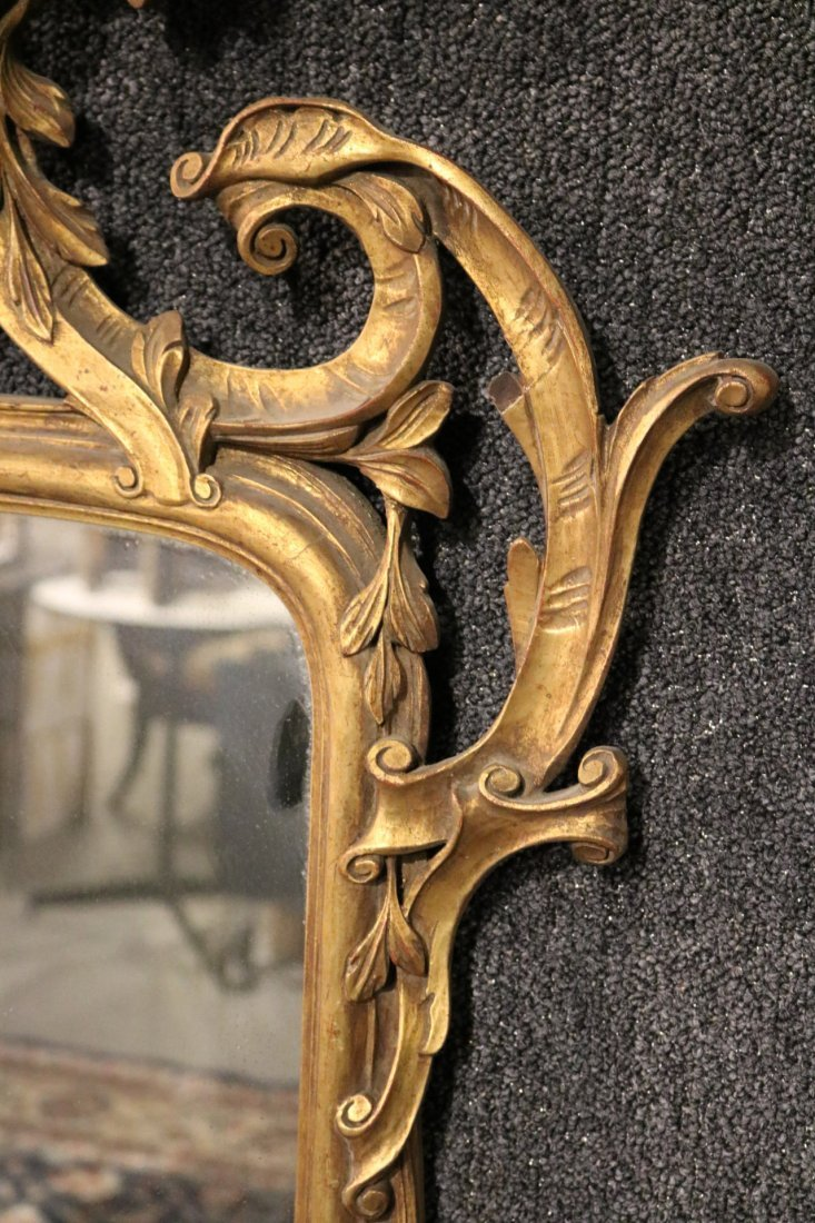 Rococo Style Giltwood Mirror - 3