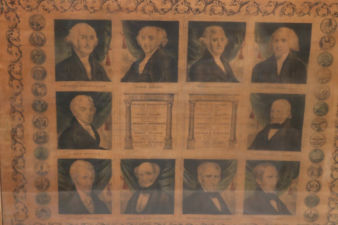 Print of First Ten Presidents, T. & E.H. Ensign - 2