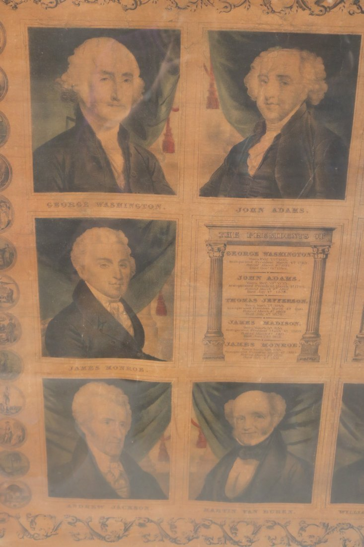 Print of First Ten Presidents, T. & E.H. Ensign - 5