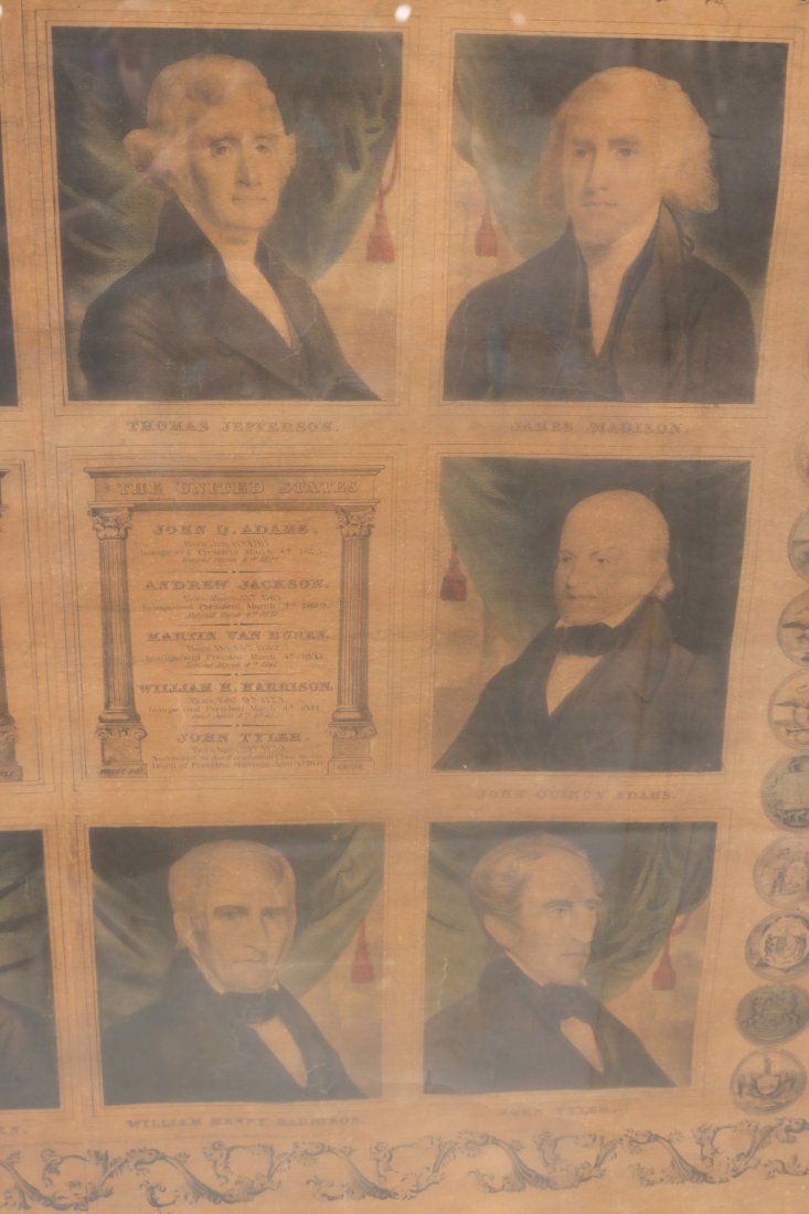 Print of First Ten Presidents, T. & E.H. Ensign - 6