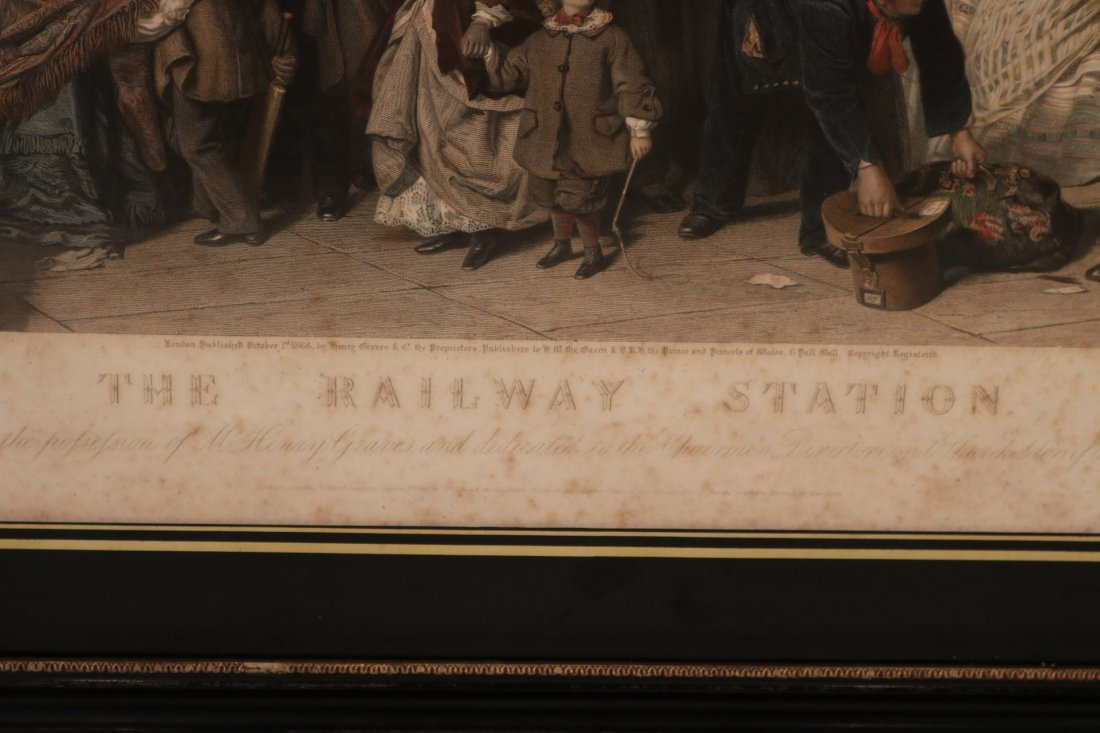 """Colored Engraving, """"The Railway Station"""" - 3"""