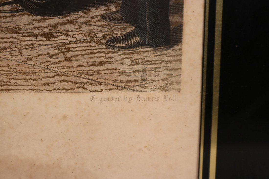 """Colored Engraving, """"The Railway Station"""" - 4"""