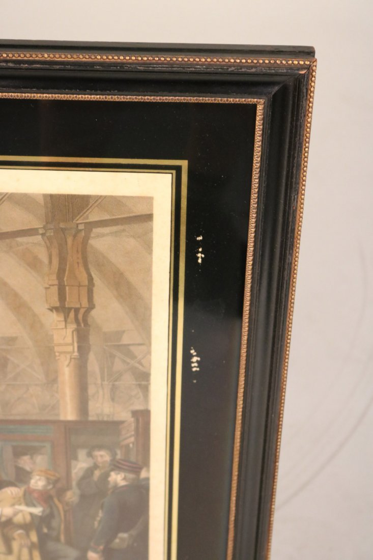"""Colored Engraving, """"The Railway Station"""" - 7"""
