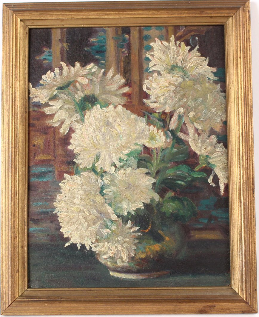 Oil on Board Floral Still Life, H.C. Nay