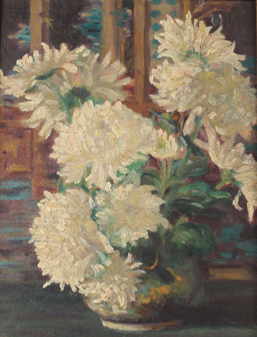 Oil on Board Floral Still Life, H.C. Nay - 2