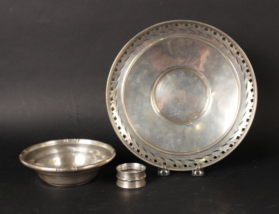 Alvin Sterling Silver Circular Tray