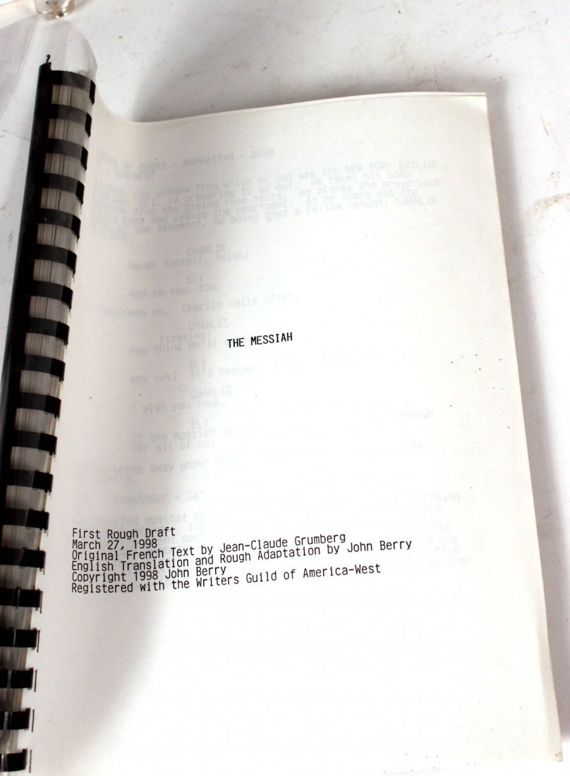 "Rough Draft Screen Play 'The Messiah"" - 5"