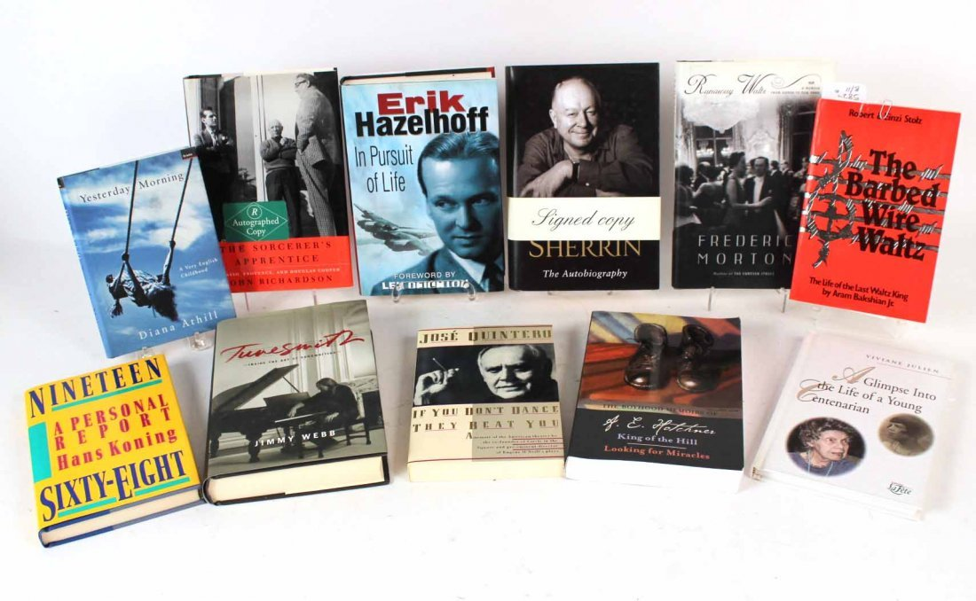 Eleven Autographed Memoirs and Biographies