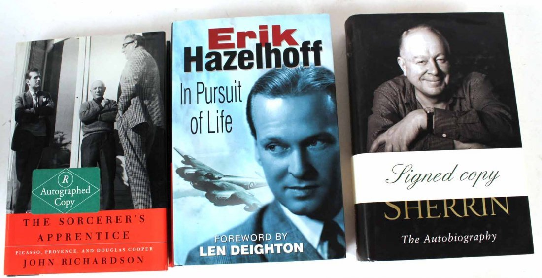 Eleven Autographed Memoirs and Biographies - 9