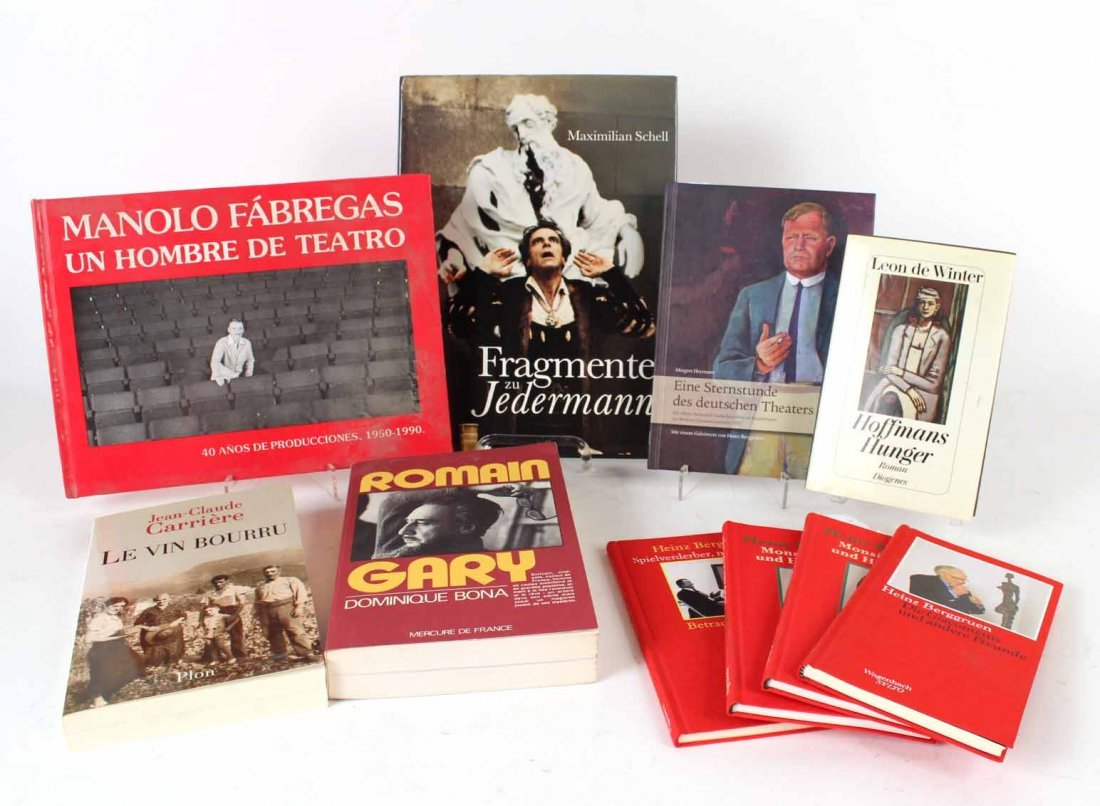 Ten Autographed French and German Books