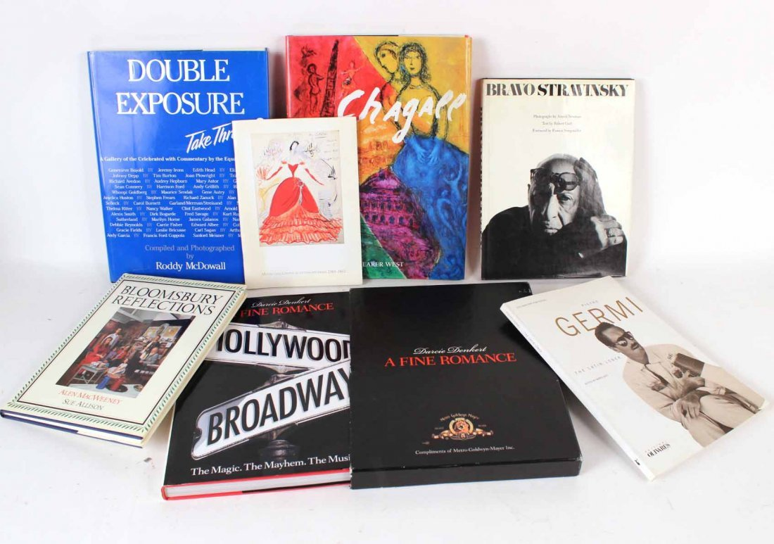 Seven Autographed Art and Film Books