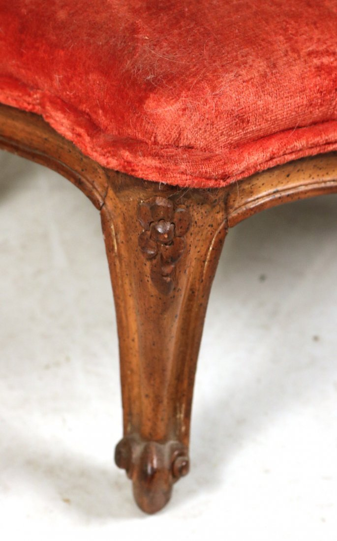 Pair of Louis XV Style Upholstered Footstools - 3