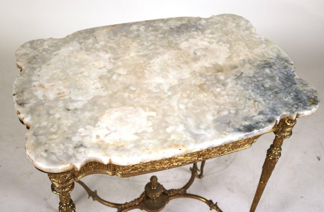 Louis XVI Style Gilt-Metal and Hardstone Table - 2