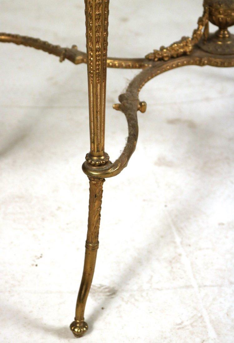 Louis XVI Style Gilt-Metal and Hardstone Table - 4
