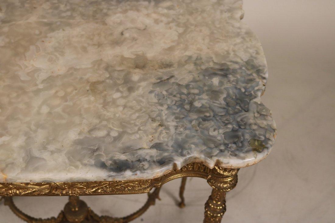 Louis XVI Style Gilt-Metal and Hardstone Table - 7