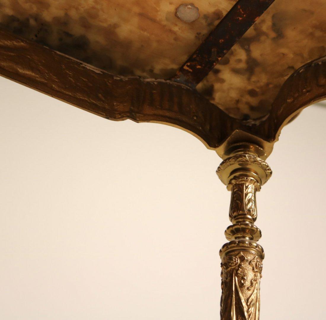 Louis XVI Style Gilt-Metal and Hardstone Table - 8