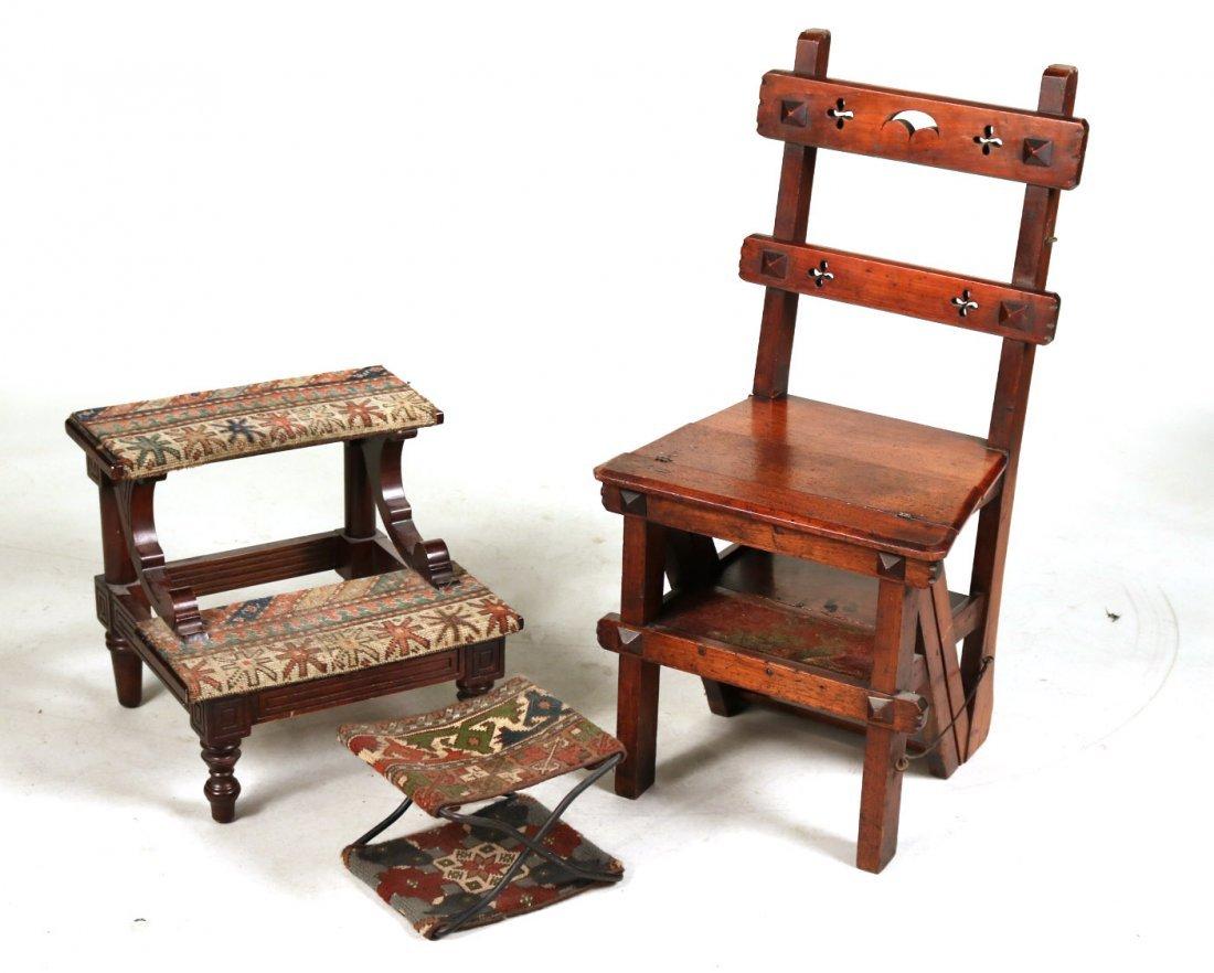 Modern Gothic Oak Metamorphic Library Chair