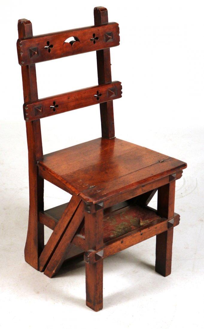 Modern Gothic Oak Metamorphic Library Chair - 2